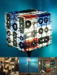 cassette tape night light lamp upcycled ecofriendly by