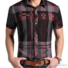 2017 m xxxl 2014 summer men short sleeve lapel plaid shirts men u0027s