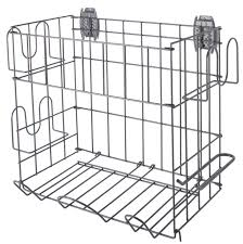 organized living activity organizer sports rack with basket