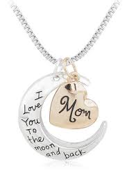 i love you to the moon and back mom necklace gift diy holiday