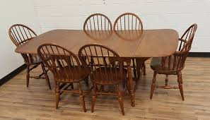 vintage maple dining set windsor chairs moosehead maine