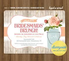 invitations for bridesmaids bridesmaids brunch invitation rustic jar brunch