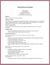 government resume templates federal template word format exampl