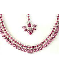 necklace with pink stone images Aaishwarya beautiful pink stone necklace set buy aaishwarya jpg