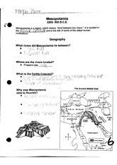 the middle east and early civilizations map worksheet scanned by