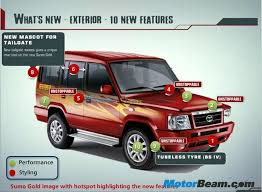 tata sumo modified 2013 tata sumo gold facelift details pictures