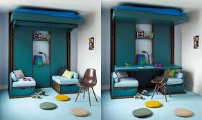 chambre modulable lit escamotable au plafond enfants ou adultes 3 pièces en 1 pour