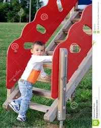 cute baby boy on climb stairs stock photography image 35616112