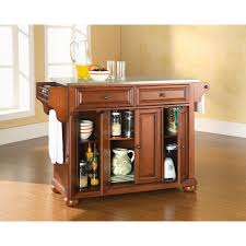 kitchen islands with stainless steel tops crosley furniture alexandria stainless steel top kitchen island in