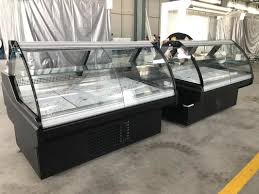 display case led lighting systems meat serve over counter display fridge with fan system and