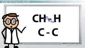 bond enthalpy definition calculations u0026 values video u0026 lesson