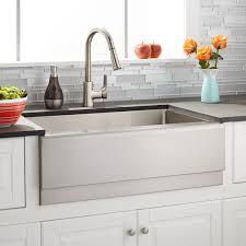 Stainless Steel Farm Sinks For Kitchens 30 Optimum Stainless Steel Farmhouse Sink Beveled Apron Kitchen