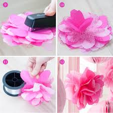 tulle flowers tissue glitter tulle flower poms from the swan princess party