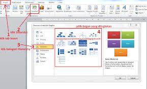 membuat struktur organisasi yang menarik cara buat contoh bagan struktur organisasi di microsoft word 2010