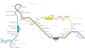vancouver skytrain map map of metro vancouver skytrain mapa metro