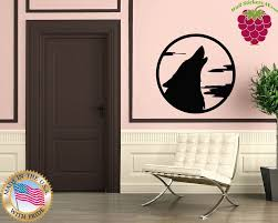popular howling wolf wall decal buy cheap howling wolf wall decal wall stickers vinyl decal moon wolf howl animal werewolf china