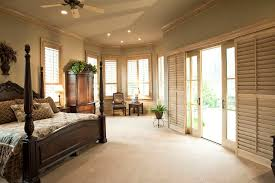 Plantation Shutters For Patio Doors Plantation Shutters For Sliding Doors Bedroom Mediterranean With
