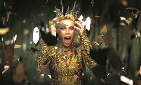 evil queen charlize in the classic fairy tale snow white a