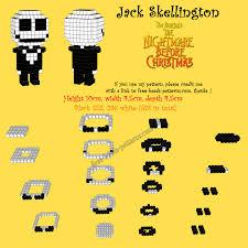 Halloween Perler Bead Templates by Nightmare Before Christmas Jack Skellington 3d Hama Beads Perler