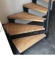 limon d escalier en bois art métal escaliers metalliques et bois