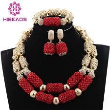 wedding necklace set red images Buy fantastic dubai gold bridal statement jpg