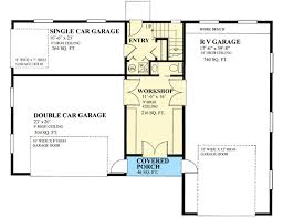 Floor Plans For Sheds Rv Garage Plan With Shed Dormer 9832sw Architectural Designs