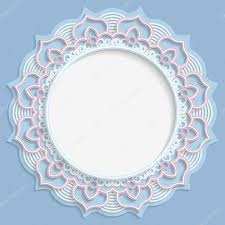 3d frame vignette with ornaments lace frame bas relief