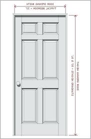 Standard Height Of Interior Door Standard Door Size Glass Doors Interior Closet The