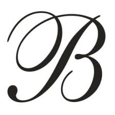 monogram letter b cropped letter b monogram items similar to free shipping custom