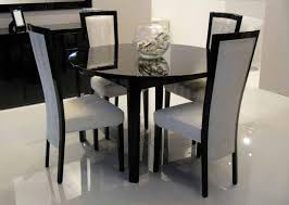 Black Extending Dining Table And Chairs Brilliant Black Dining Room Set With Black Dining Room