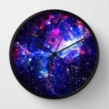 Galaxy Wall Clock by Matt Borchert Home and Decor