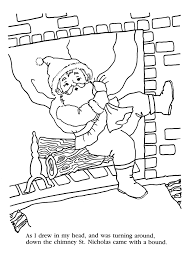 twas the nifgt before christmas coloring pages coloring home