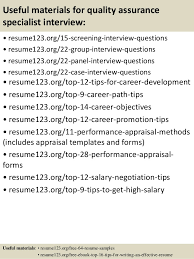 Quality Assurance Sample Resume by Top 8 Quality Assurance Specialist Resume Samples