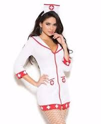 Nurse Halloween Costumes Womens Nurse Halloween Costume Large Women White Red Dress Hat
