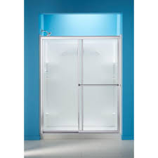 Frosted Glass Shower Door by Sterling Deluxe 42 1 2 In X 65 1 2 In Framed Sliding Shower Door