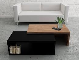 modern walnut coffee table jazz two tone temahome coffee table in black and walnut