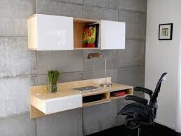 Modern Wall Desk Furniture Grey Modern Wall Computer Desk With Storage And White
