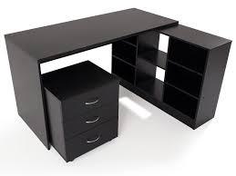 bureau d angle en bois bureau d angle en bois avec caisson l135 5 cm presto