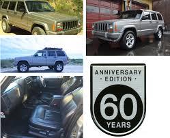 jeep cherokee 60th anniversary very rare model less than 6000 units