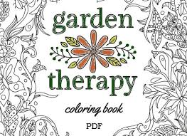 garden therapy coloring book garden therapy