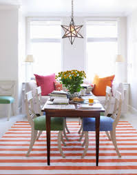 Orange Dining Room Sets Colorful Dining Chairs Tjihome