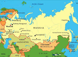 moscow map world map of russia russian federation