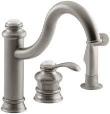 brushed nickel single handle kitchen faucet faucet k 12185 bn in brushed nickel by kohler