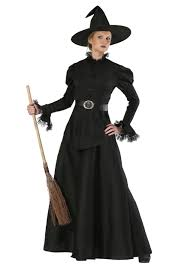 classic black witch plus size costume for womens