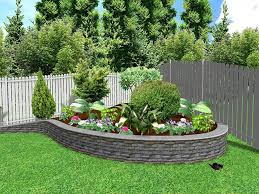 image of the front yard landscaping designs modern hill garden