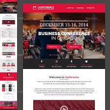 conference event e newsletter psd template by kalanidhithemes