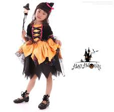 Girls Witch Halloween Costumes Aliexpress Buy 110 155cm Adorable Kids Witch Cosplay
