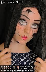 broken doll by sugartats sugartats com temporary makeup
