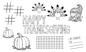 free printable thanksgiving placemat paper trail design