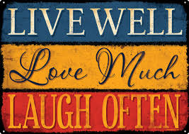 Live Laugh Love Signs Live Well Love Much Laugh Often Tin Sign 40 7x30 5cm Ebay